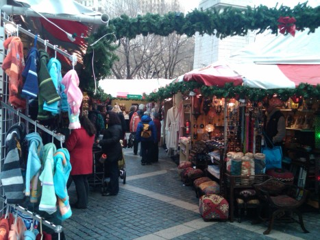 Shopping the Columbus Circle Holiday Market