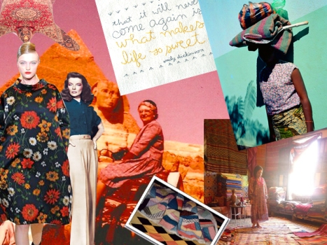 Mood Board: Jade Lai's Egyptian Landscapes and Moroccan Rugs
