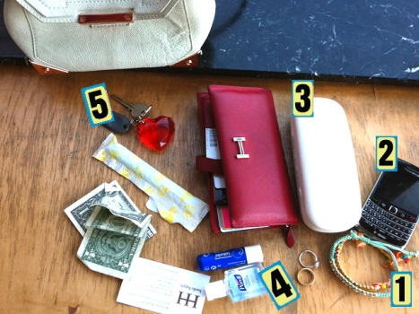 Purse Purge: The Man Repeller Packs Purell and Friendship Bracelets