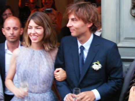 Sophia Coppola Weds in Custom Lavender Alaïa