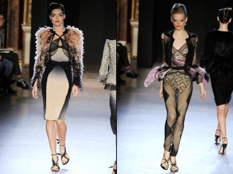 Zac Posen's Paris Debut Featured Lace Leggings, Feather Poufs