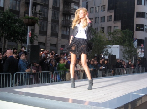 Express Stages a Fashion Show on Broadway
