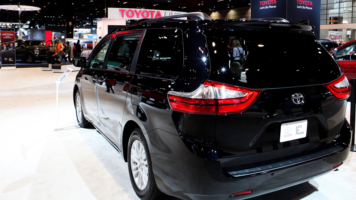 A 2016 Toyota Sienna Minivan on display at the Chicago Auto Show on February 19, 2016. (Photo By Raymond Boyd/Getty Images)