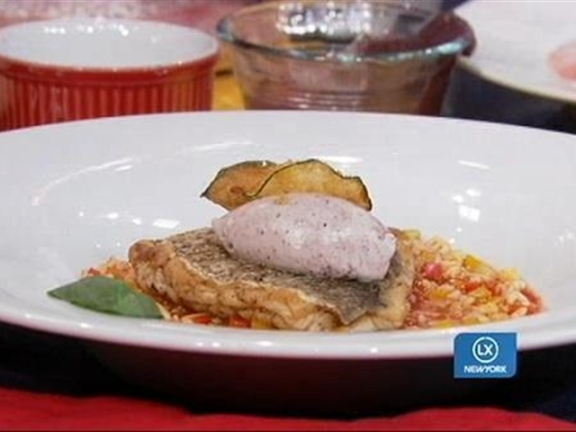 Steamed Red Snapper and Alphabet Soup