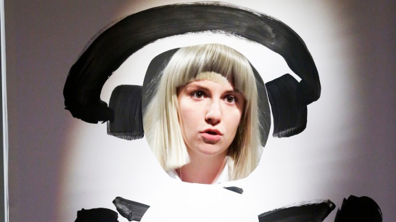 Sia Performs Chandelier Sia performs chandelier with lena dunham on late night nbc new meyers sia performs chandelier with lena dunham audiocablefo