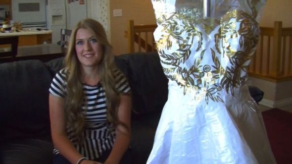 Student Crafts Prom Dress From Duct Tape, Wins Scholarship Money ...