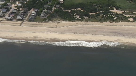 Raw Video Chopper 4 Over Fire Island Beach