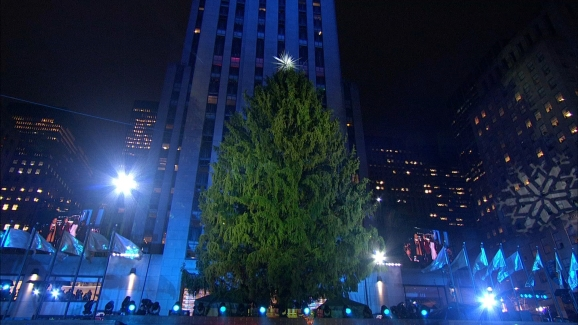 Rockefeller Center Christmas Tree Lights Up
