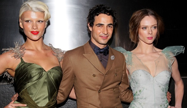 One Shot: Zac Posen Snags Two Supermodel Dates to Charity Event