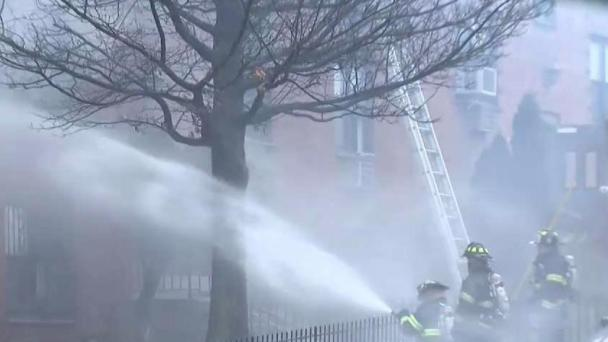 Storm Complicates Firefight in New Jersey