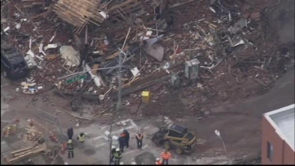Chopper 4: Building Ruins Still Smoldering 24 Hours After East Village Blast