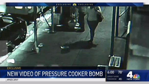 WATCH: Suspect Leaves Alleged Luggage Bomb, People Kick It