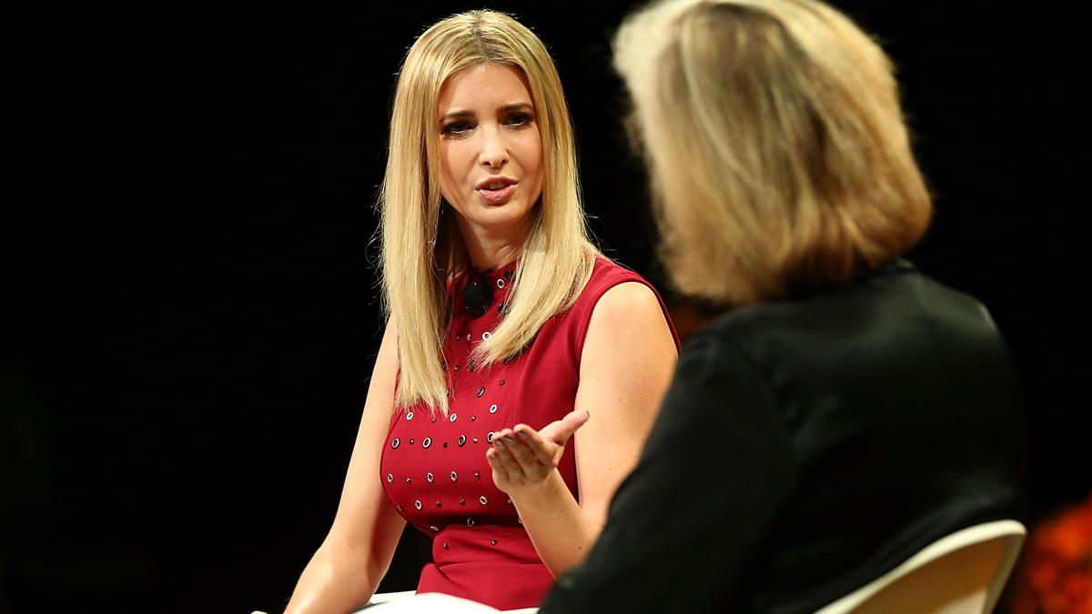 Ivanka Trump and Nancy Gibbs speak onstage at the Fortune Most Powerful Women Summit 2016 at Ritz-Carlton Laguna Niguel on October 19, 2016, in Dana Point, California.