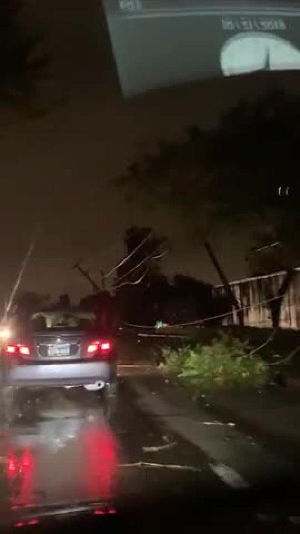 North Dallas Tornado Pulls Away, Leaves Power Lines, Trees Down