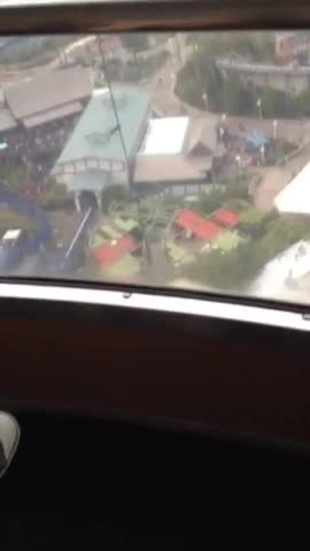 Cell Phone Video: Stuck on SeaWorld Ride
