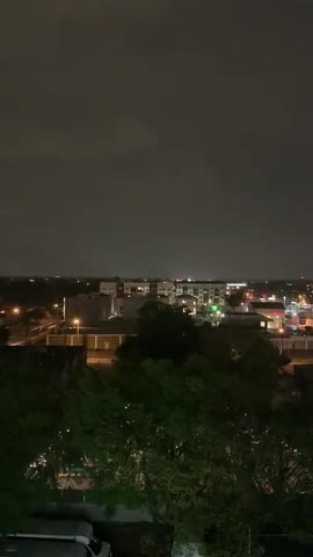 Tornado Lit by Lightning Headed Toward 635