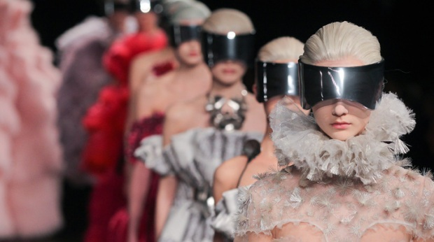 One Shot: Futuristic Models on the McQueen Runway