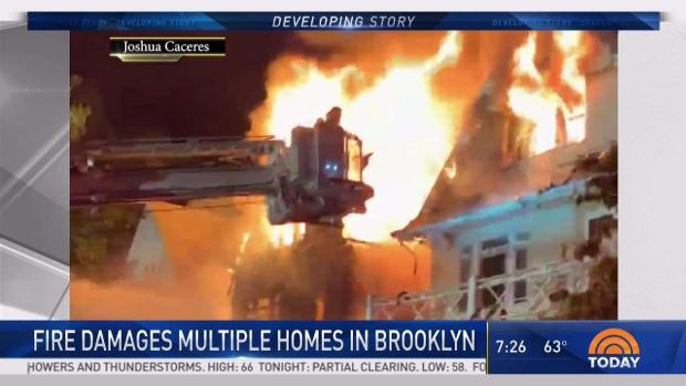 [NY] 12 Hurt in Fire That Damages Multiple Brooklyn Homes