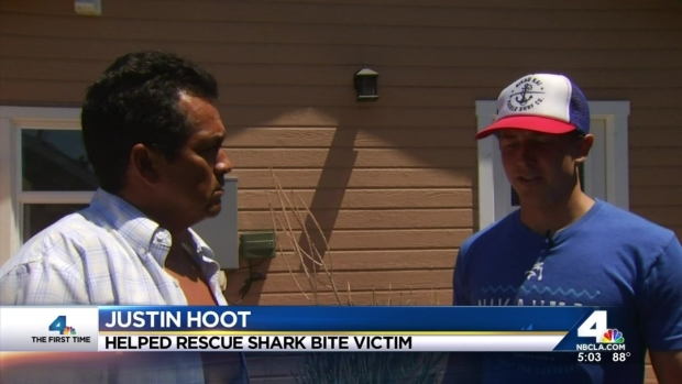 [LA] Shark Bite Survivor, Rescuer Reunited
