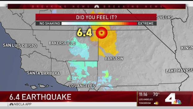 6.4 Magnitude Earthquake Strikes SoCal
