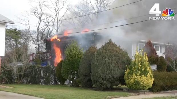 [NY] Man, Dog Killed When Long Island Home Goes Up in Flames