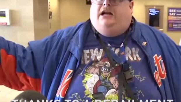 Angry Mets Fan Sticks It to NJ Transit
