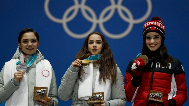 Feb. 23 Olympics Photos: Russian Skaters Fight for Gold