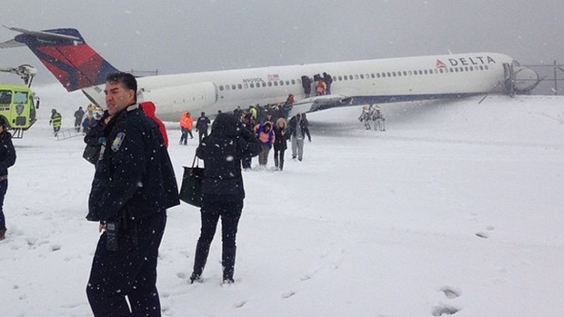 Plane Passenger Talks About Skidding From Runway at LaGuardia