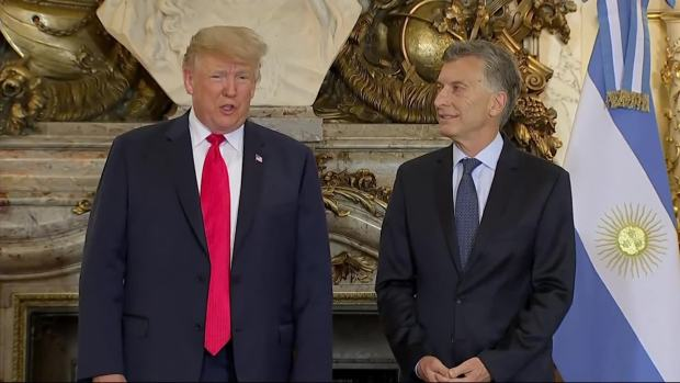 [NATL] Trump: Trade, Military Deals in Argentina Talks