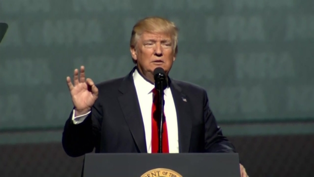 [NECN-NATL] Trump Calls Warren 'Pocahontas' in NRA Speech