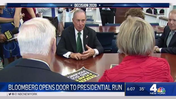 [NY] Bloomberg Opens Door to Presidential Run
