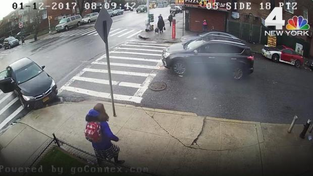 [NY] Surveillance Video Captures Horrifying Car Accident