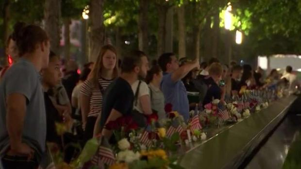 [NY] Tributes Honoring the 9/11 Fallen Go Deep Into Night