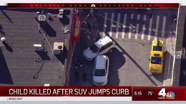 [NY] Child Killed After SUV Jumps Curb in NYC