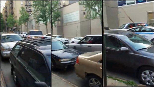 [NY] SUV Smashes Cars, Crashes Onto Sidewalk in Wild Chase