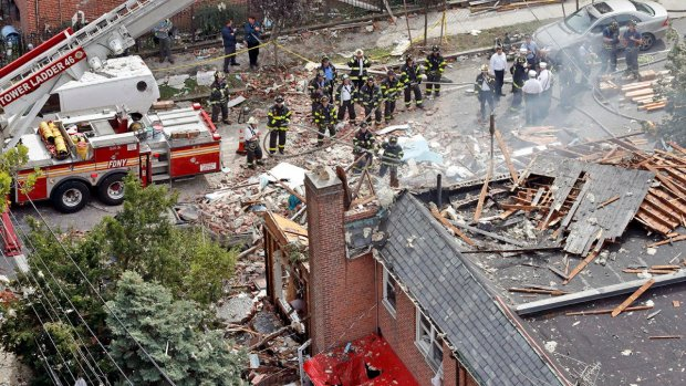 2 men charged in New York explosion that killed fire chief