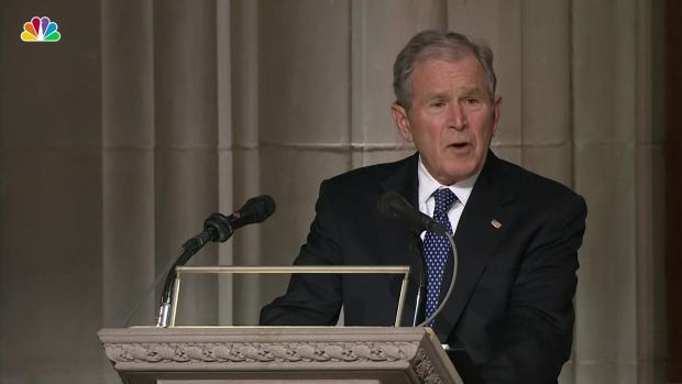 George W. Bush Jokes About His Father's Flaws