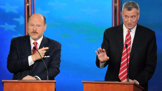 [NY] Debate Between Mayoral Hopefuls Bill de Blasio, Joe Lhota