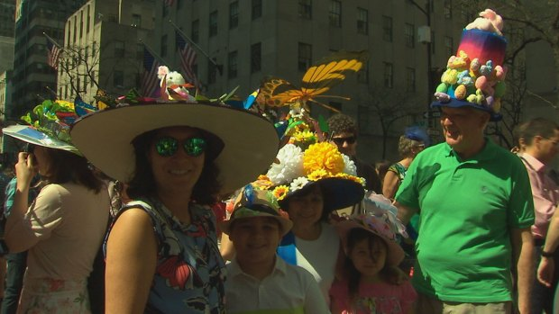 New Yorkers Show Off Egg-Cellent Bonnets at Annual NYC Easter Parade