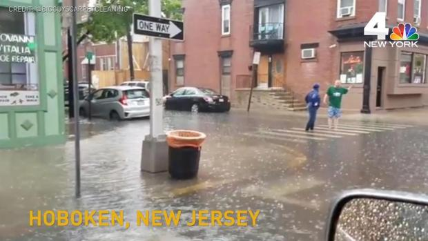 Flash Flooding Turns NJ Street Into a Stream