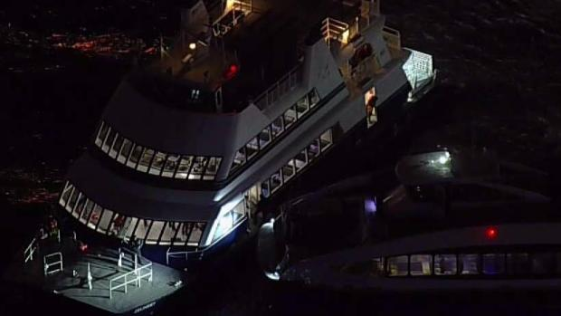 Ferry Runs Aground Near Lower Manhattan Pier