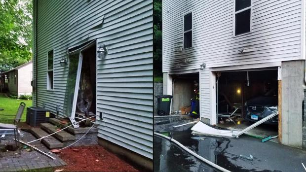 [NY] Fiery Gas Explosion Obliterates Connecticut Home