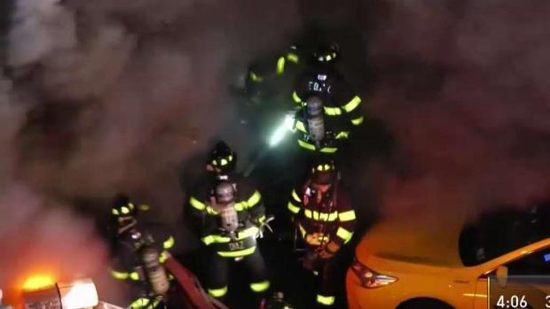 [NY] Firefighters in Path of Huge Fire Blast in Queens