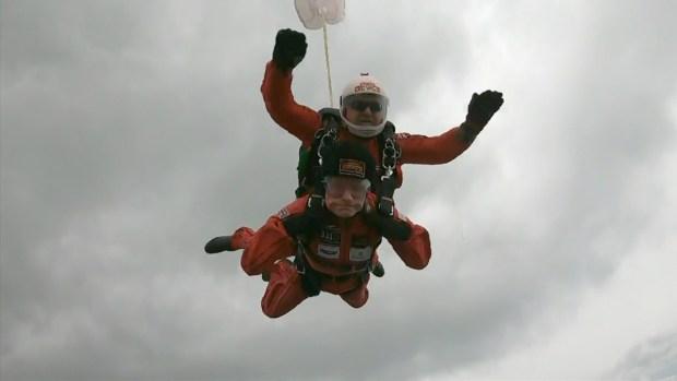 [NATL] D-Day Veterans Recreate Parachute Jumps Over Normandy