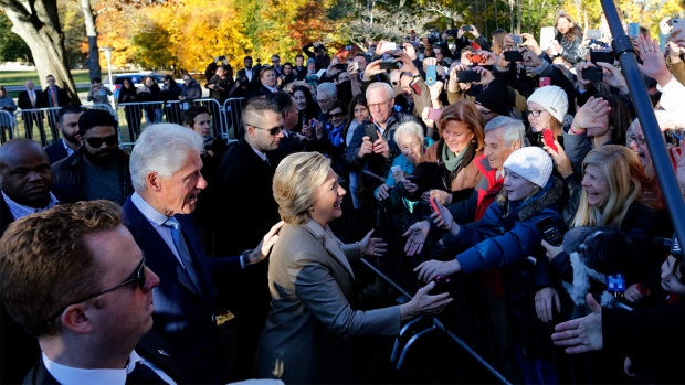 Hillary Clinton Casts Her Vote in NY