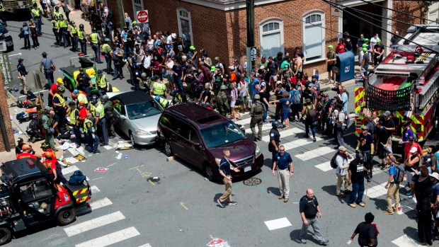 Images: Violence Erupts at White Nationalist Rally in Va.