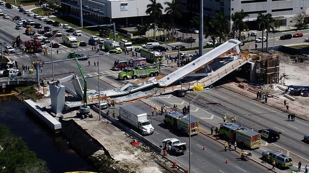[NATL-MIA-G] Cars Crushed in Pedestrian Bridge Collapse Near FIU