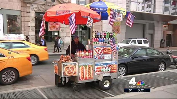 [NY] High-Price Hot Dog Vendor Feels the Heat