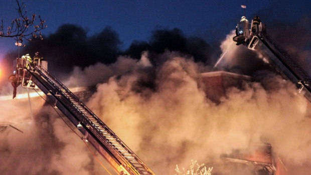 [NY] 5-Alarm Fire at Jackson Heights Office Building