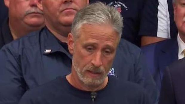 [NY] Jon Stewart and Jon Feal Speak After 9/11 Victims Fund Vote